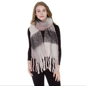 Accessories - Super Soft Plaid Blanket Scarf with Fringes💗